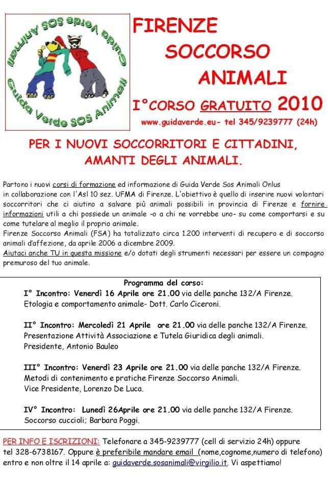 Resoconto I incontro – Firenze Soccorso Animali – 16 aprile 2010