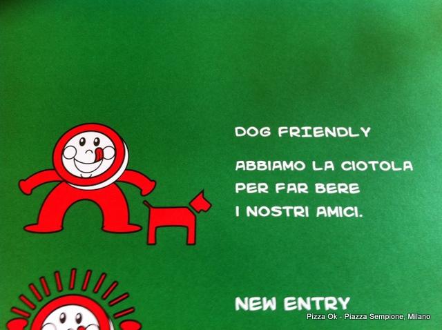 A Milano da Pizza Ok il tuo cane è il benvenuto